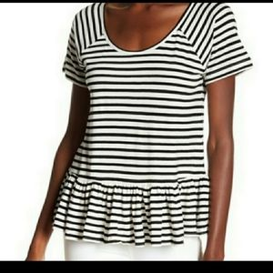 Lucky Brand Black & White Stripe Top